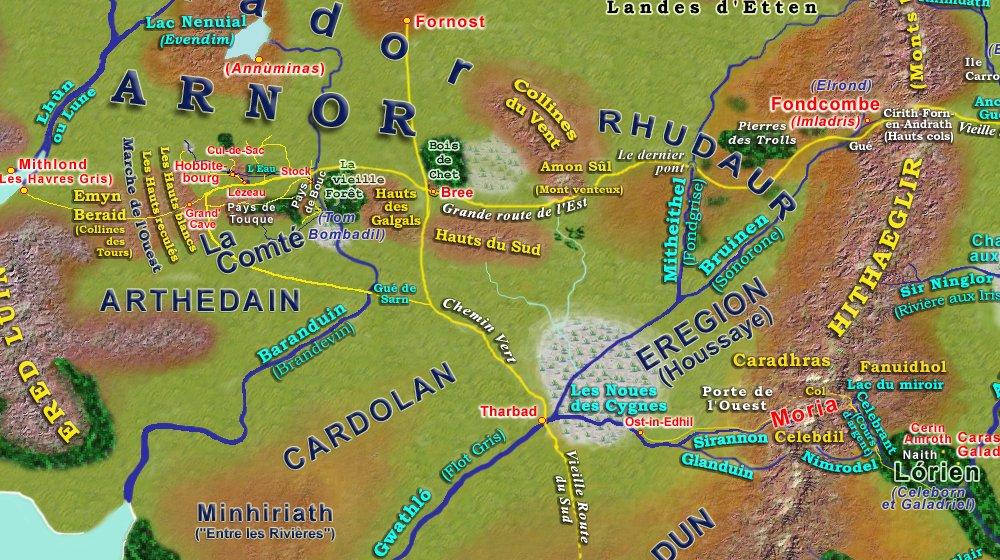 Carte Terre Du Milieu Premier Age.Cartes Du 3eme Age De La Terre Du Milieu De Tolkien 3age